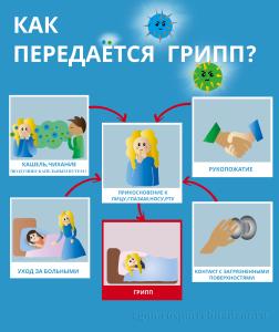 как передается грипп